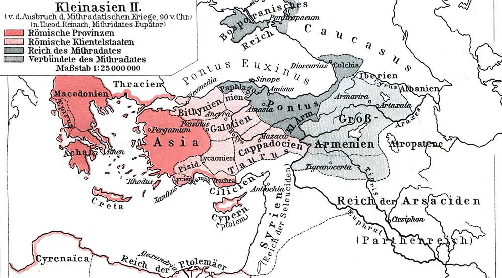 Karte Kleinasien Meriniden